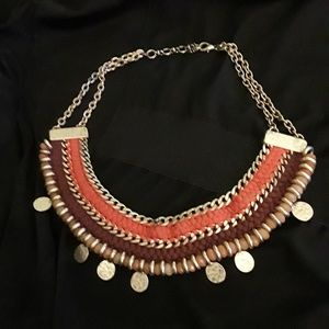 Lucky Brand resin woven brand necklace